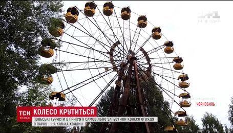 В заброшенной Припяти возле Чернобыля запустили колесо обозрения