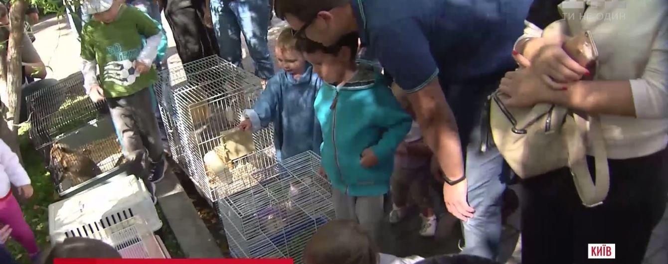 """Хорек, змея и черепаха в """"Охматдете"""": киевский зоопарк устроил праздник для больных малышей"""