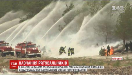 Евакуація гелікоптером та знищення авіабомби: на Київщині проходять навчання підрозділів ДСНС