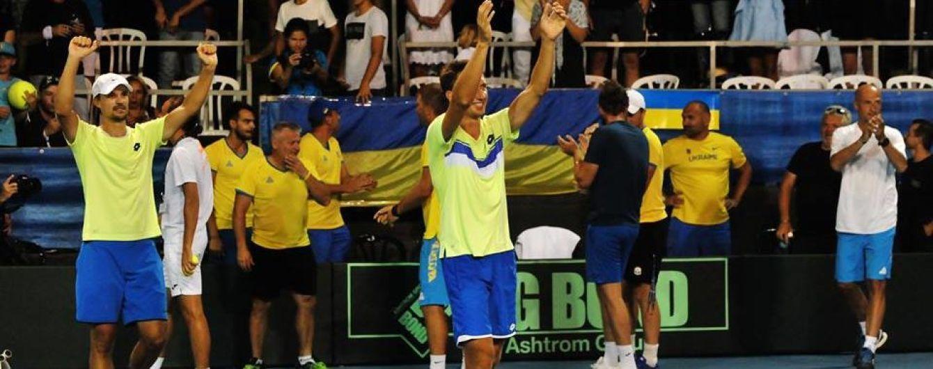 Збірна України обіграла Ізраїль і зберегла місце у Першій групі Кубка Девіса
