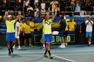 Сборная Украины обыграла Израиль и сохранила место в Первой группе Кубка Дэвиса