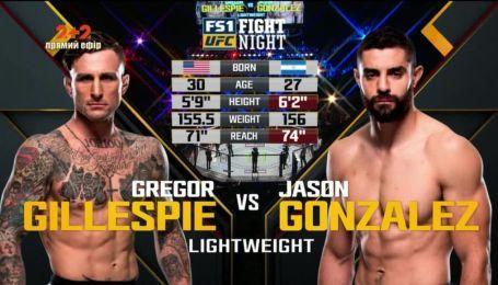 UFC. Грегор Гиллеспи - Джейсон Гонзалез. Видео боя
