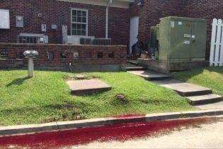 Улицу в американском городе залило человеческой кровью из похоронного бюро