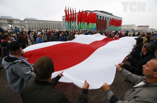 """Білоруси в Мінську вийшли на протест проти військових навчань з росіянами """"Захід-2017"""""""