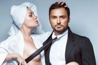 """Полуобнаженные и в эротической позе: """"НеАнгел"""" Слава с мужем снялась в откровенной фотосессии"""