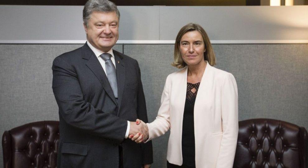 Порошенко закликав Могеріні підтримати ініціативи щодо зближення України і ЄС