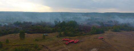 Огонь на 50 гектарах и едкая мгла: на Черкасщине до сих пор горят торфяники