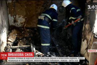 У Миколаєві стався вибух в приватному будинку на чотири квартири