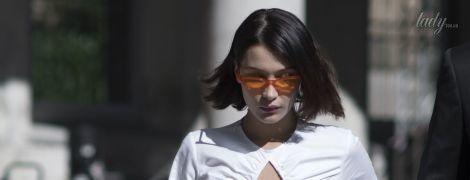 Во всем белом: стильная Белла Хадид на Миланской неделе моды