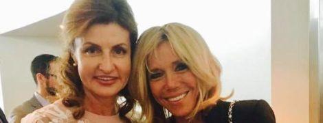 Стильные и красивые: Марина Порошенко и Брижит Макрон встретились в Нью-Йорке