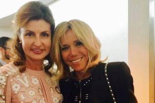 Стильні і гарні: Марина Порошенко та Бріжит Макрон зустрілися у Нью-Йорку