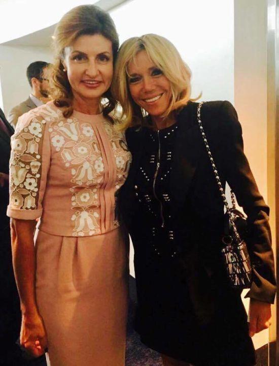 Марина Порошенко домовилася із дружиною Макрона про співпрацю у сфері інклюзивної освіти