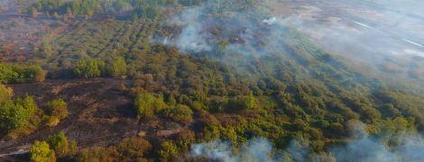 На Черкасчине пять дней масштабно горят торфяники