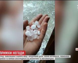 Грози, град та шквали прогнозують до кінця дня в центрі та на півдні України