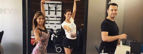 Беременная девушка Роналду показала, как танцует на каблуках