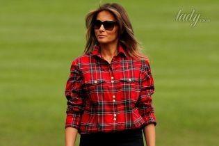 Стильная даже в огороде: Мелания Трамп в рубашке Balmain сажала овощи