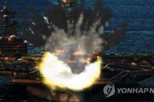 """КНДР показала фото й відео """"знищення"""" винищувачів та авіаносця США"""