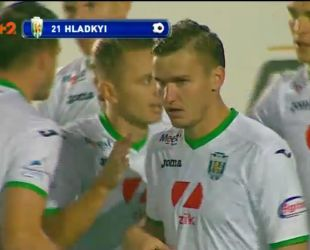 Карпати - Чорноморець - 1:0. Відео голу Гладкого