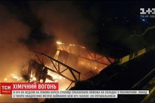 У Києві сталась масштабна пожежа на складах з полімерами та пінопластом