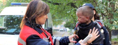 В Полтаве пожарные спасли из огня ребенка, который был сама дома