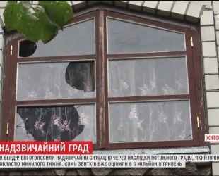 Мощный град на Житомирщине нанес ущерб на более чем 6 миллионов гривен