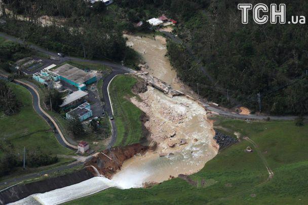 Ураган «Марія» обвалив дамбу у Пуерто-Рико: провадиться евакуація 70 тисячі людей