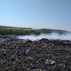 На Харківщині спалахнув полігон твердих побутових відходів