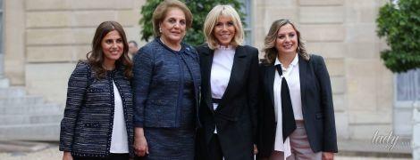 Стильная Брижит Макрон затмила своим образом первую леди Ливана