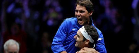 Бесценная реакция. Как Надаль болел за Федерера на турнире в Праге