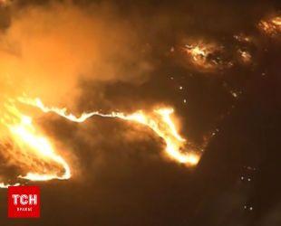 В Калифорнии произошел масштабный пожар