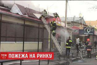 На центральному ринку у Полтаві сталася пожежа
