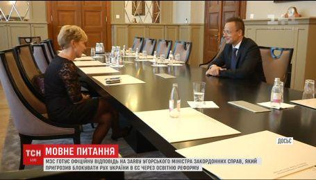 Украинское МИД надеется на конструктивный диалог с Венгрией