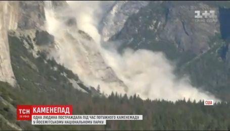 Посетитель национального парка в США пострадал от мощного камнепада
