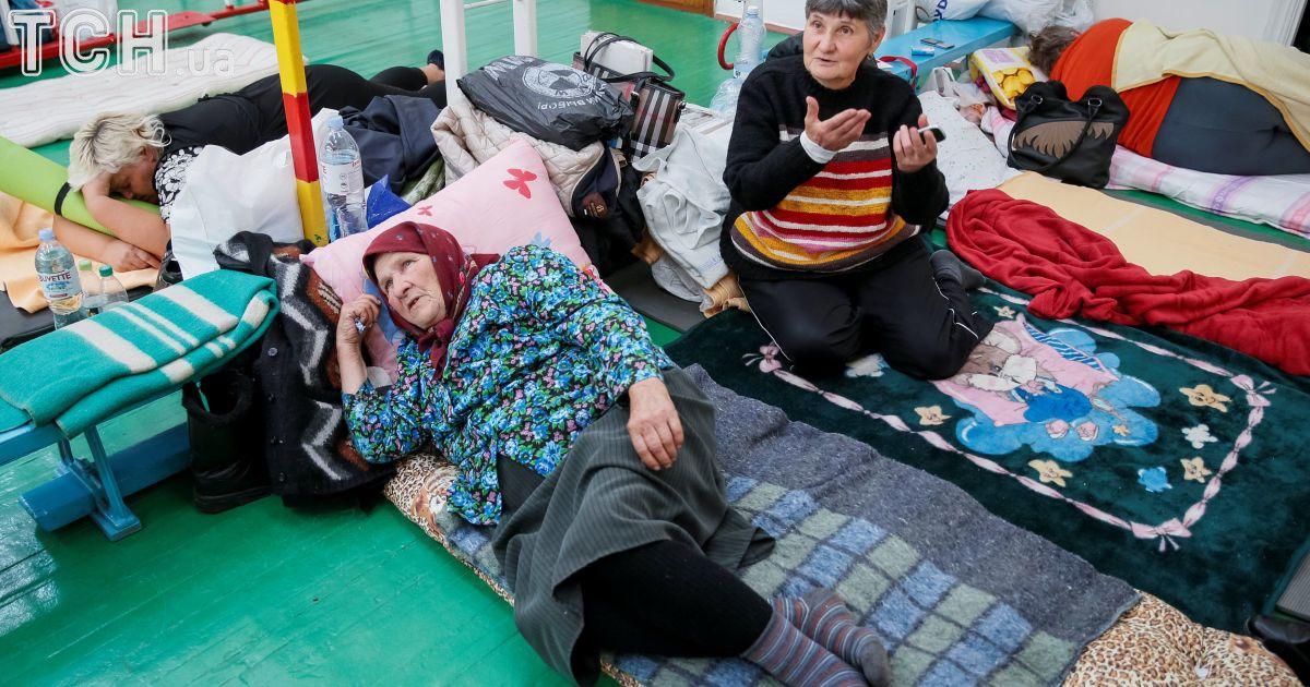 Временные приюты для эвакуированных из Калиновки.
