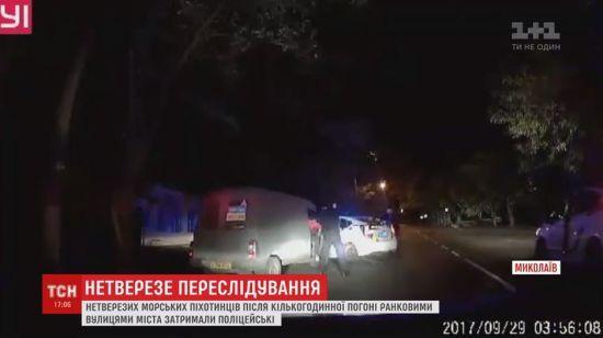 У Миколаєві нетверезих військових затримували з погонею та стріляниною