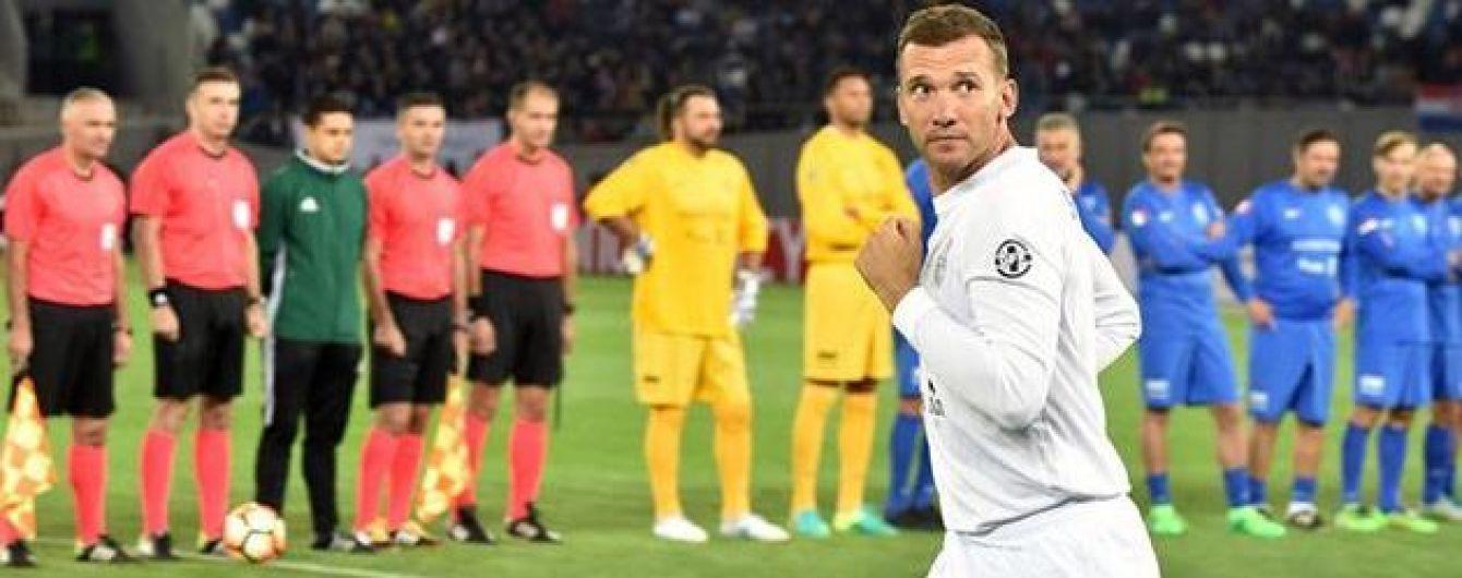 Как в лучшие годы: Шевченко снова надел футбольную форму и забил мяч