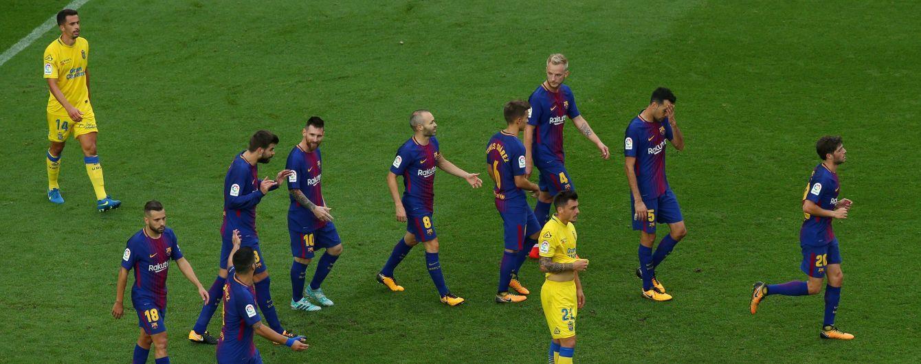 """""""Барселона"""" розгромила """"Лас-Пальмас"""" під час заворушень у Каталонії"""