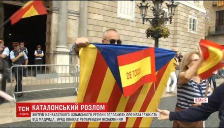 Испания стрельбой пытается остановить референдум об отделении Каталонии