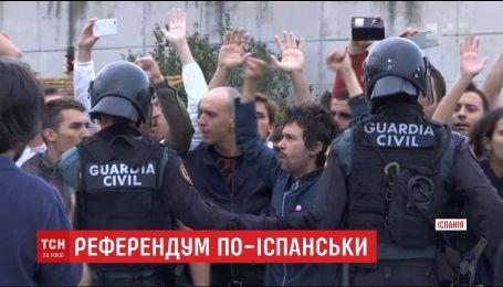Более 800 человек пострадали в столкновениях с испанской полицией