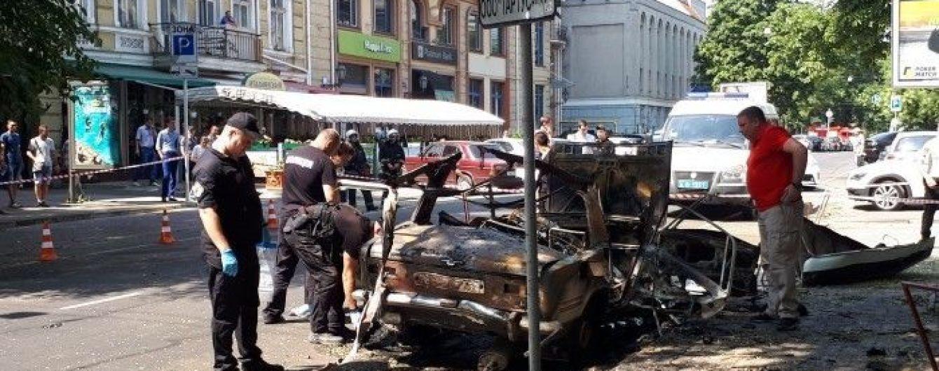 Представители РФ и 600 грамм взрывчатки. В полиции озвучили подробности взрыва авто в центре Одессы