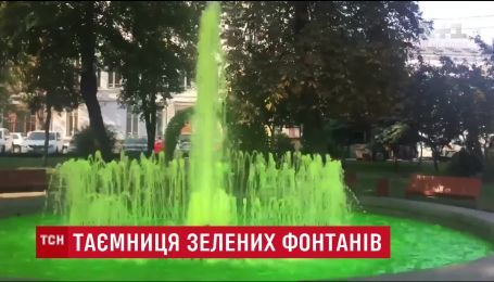 Специалисты выяснили, чем вандалы красили воду в киевских фонтанах