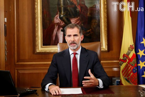 Король Іспанії виступив із заявою з приводу референдуму в Каталонії