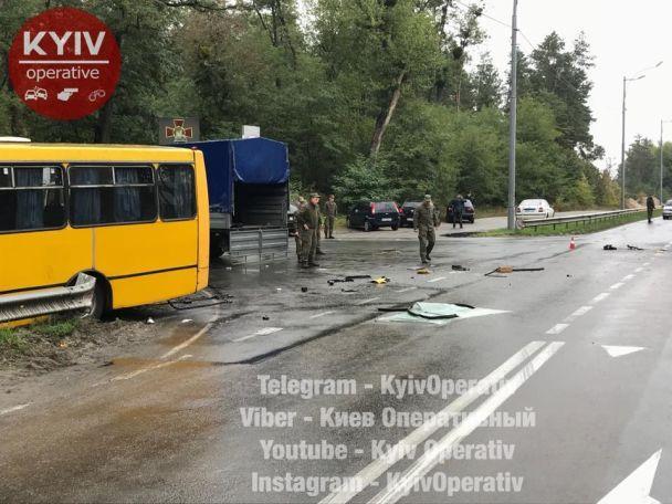 УДТП завтобусом Нацгвардії один боєць загинув, дев'ятеро постраждали