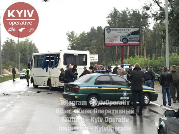 У Київській області автобус Нацгвардії потрапив уДТП, один військовий загинув