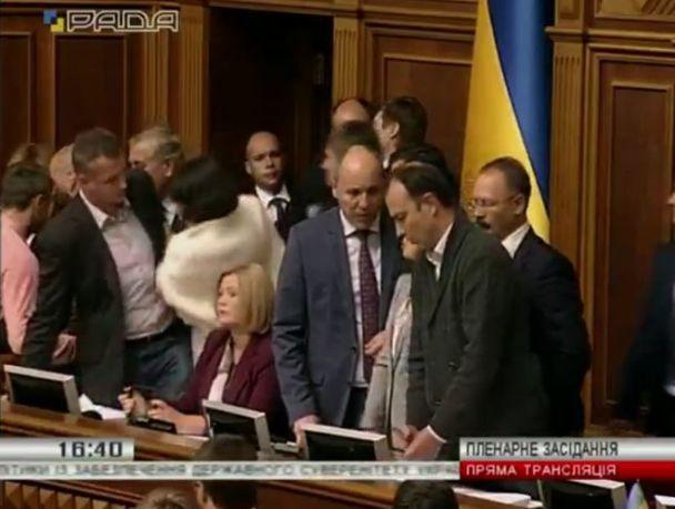 У Раді нардепи побились через закон про реінтеграцію Донбасу