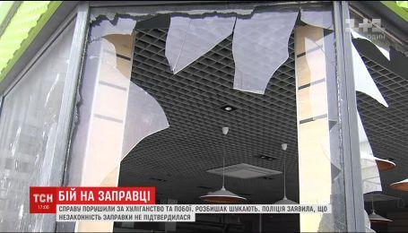 Во время протеста против АЗС в столичном районе Позняки пострадали местные и правоохранители