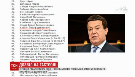 Верховна Рада заборонила в'їзд в Україну понад сотні зірок шоу-бізнесу
