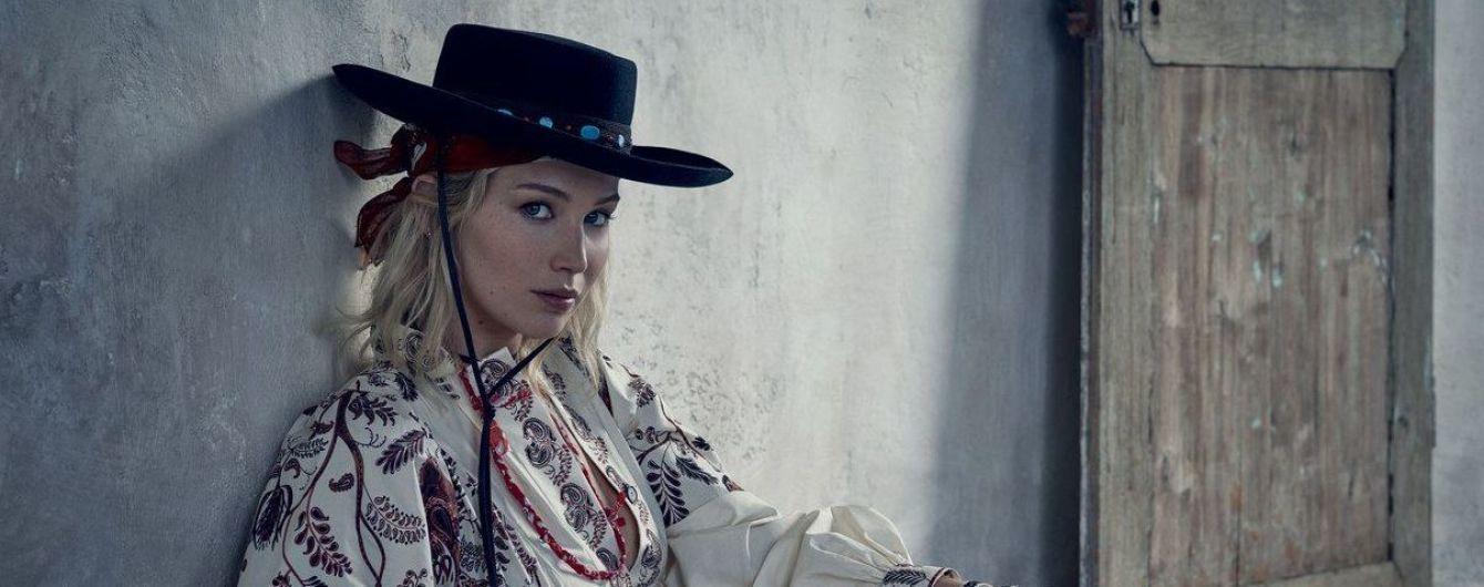 Сексуальная ковбойша: Дженнифер Лоуренс в рекламной кампании коллекции Dior