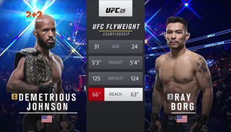 UFC. Деметриус Джонсон - Рэй Борг. Видео боя