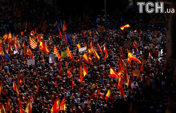 Мітинг проти незалежності Каталонії